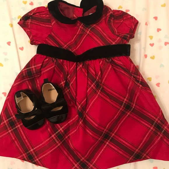 NWT Gymboree Holiday Plaid Red Black Dress Girls Christmas Size 3t